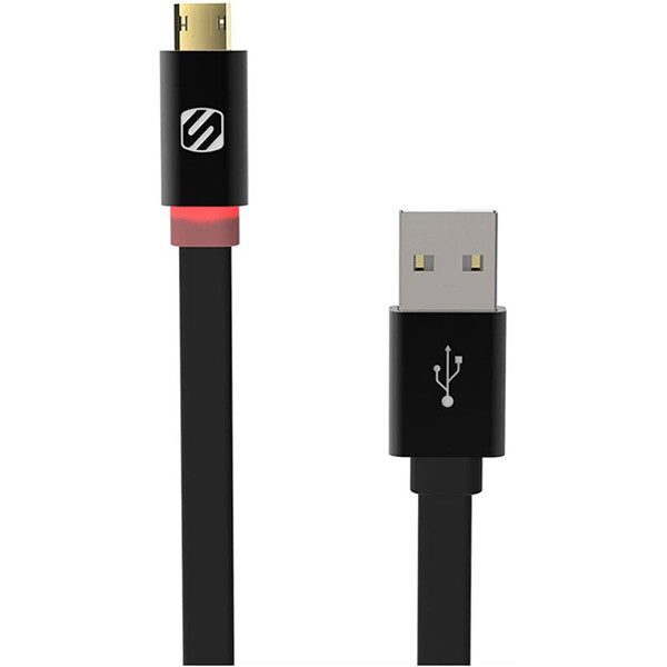 Scoshe® Reversible Micro USB LED Charge & Sync Cable, 6 ft