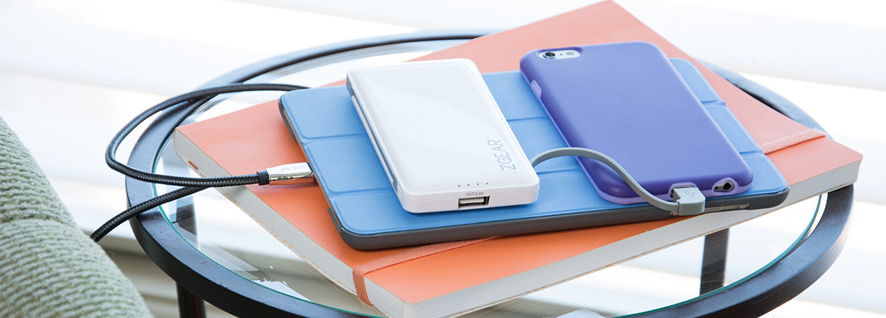 Example display of ZGEAR® Slim Portable Power Bank