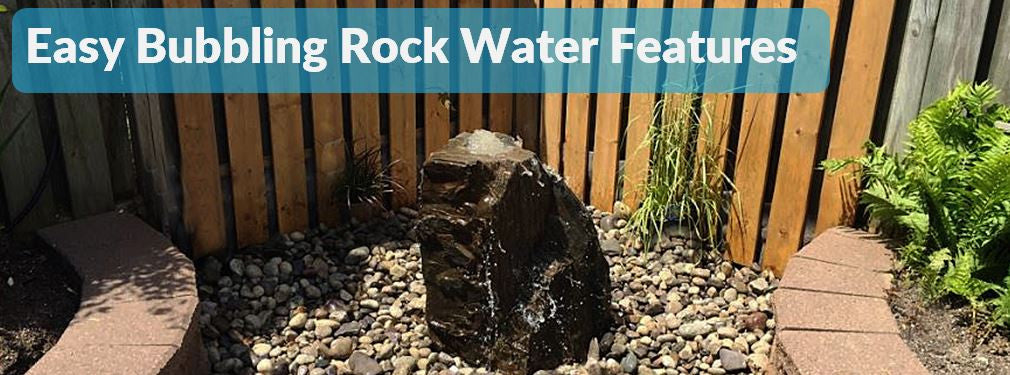 Easy Water features bubbling rock Natural stone