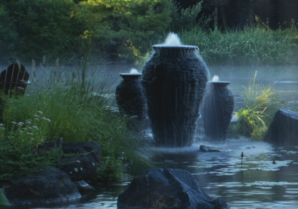 In-Pond Stack Slate Urn
