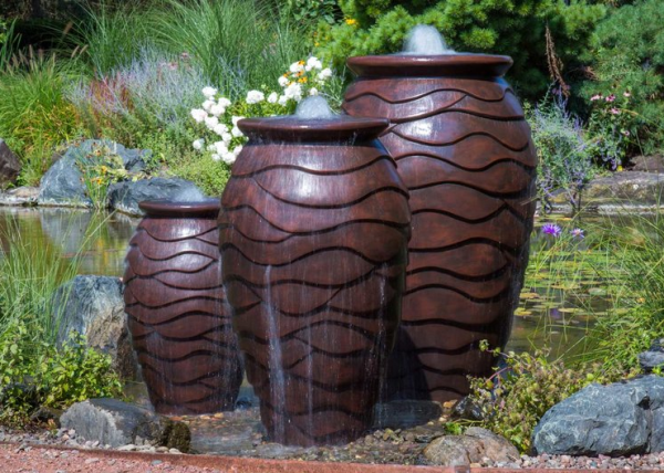 In-Pond Scalloped Urns
