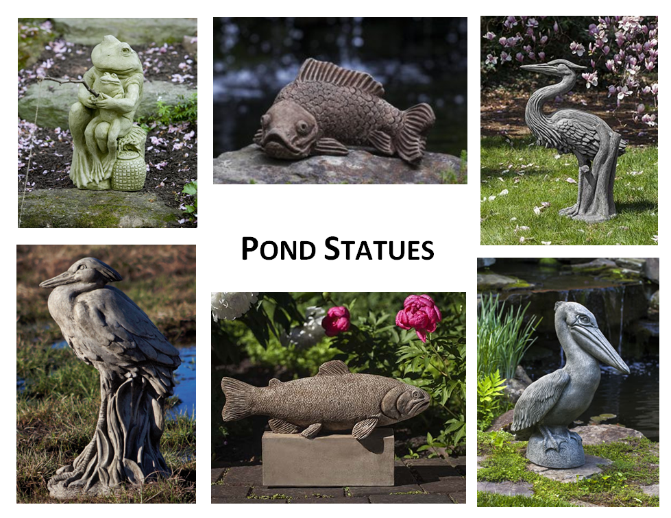 Pond Statues