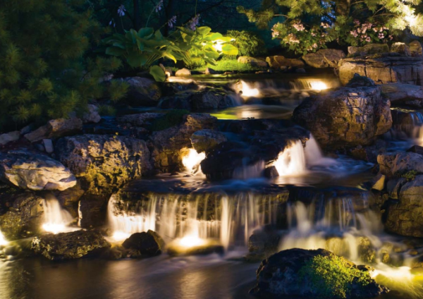 Moss Rock Pond with Lights