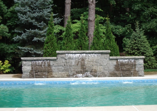 Backyard Pool Water Feature