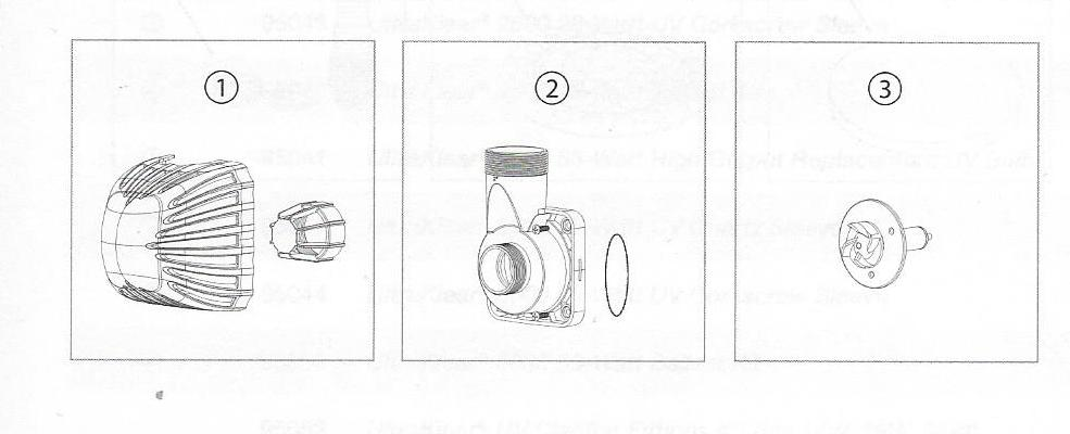 Replacement Parts Diagram for Aquascape Ecowave Pump Replacement Parts