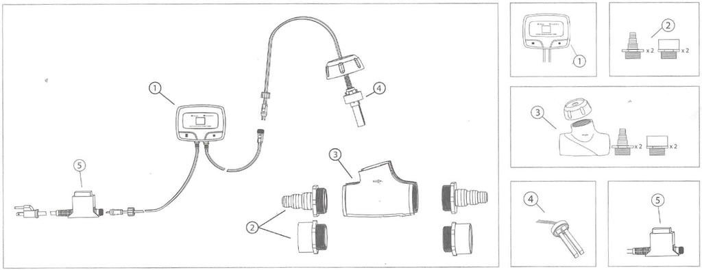 Replacement Diagram for Aquascape IonGen Iongen G2 System Item 95012