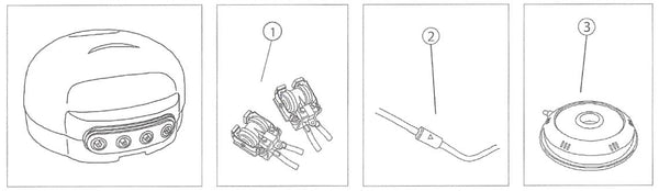 Diagram for Replacement Parts for 2 and 4 - Outlet Pond Aeration Kit (#75000 and #75001)