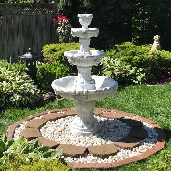 3 Tier Lion Fountain