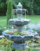 Large 3 Tier Leaf Fountain with Large Basin