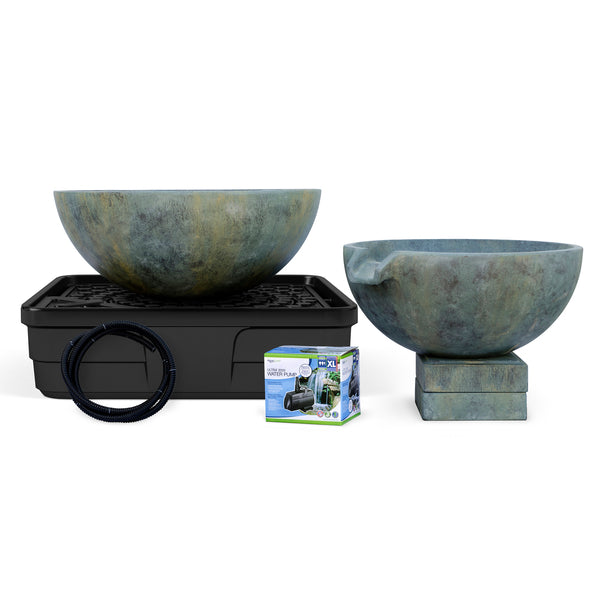 Photo of Aquascape Spillway Bowl and Basin Landscape Fountain Kit - Marquis Gardens