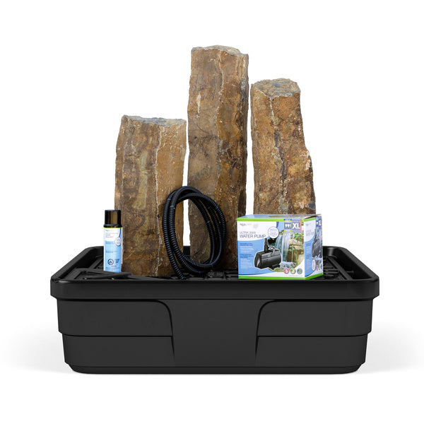 Photo of Aquascape 3 pc Mongolian Basalt Columns Fountain Kit - Marquis Gardens