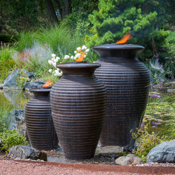 Photo of Aquascape Rippled Urns - Marquis Gardens