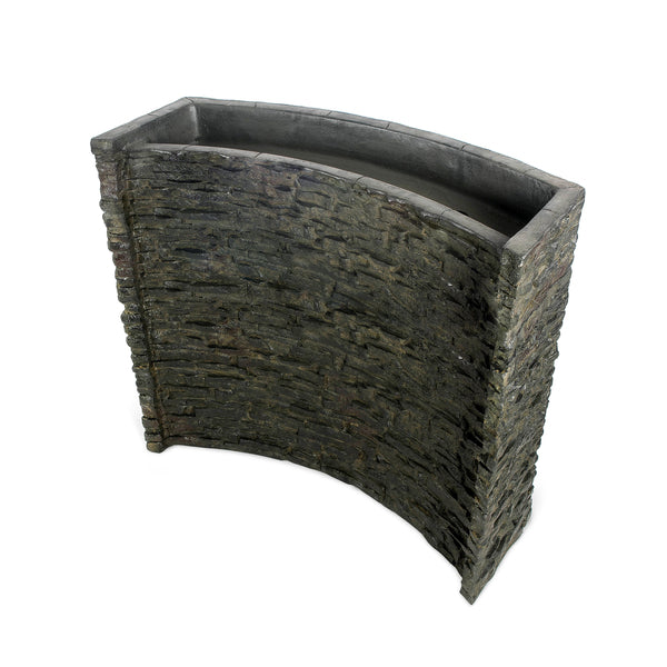 Photo of Aquascape Stacked Slate Spillway Wall Landscape Fountain Kit - 32-inch - Marquis Gardens