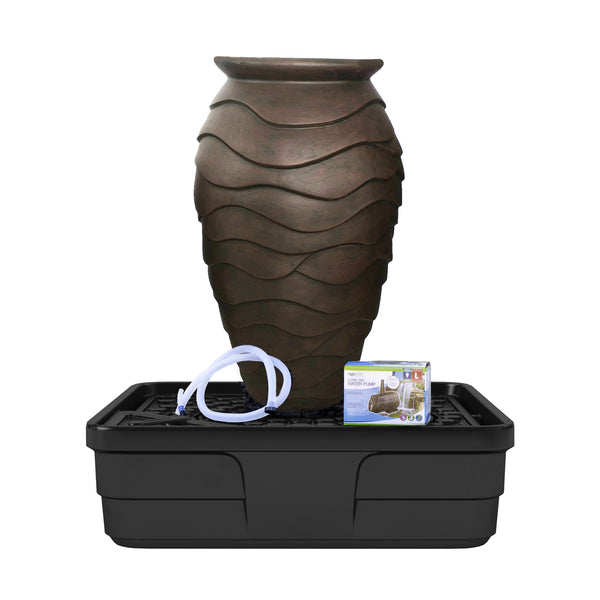 Photo of Aquascape Scalloped Urn Landscape Fountain Kit - Medium - Marquis Gardens