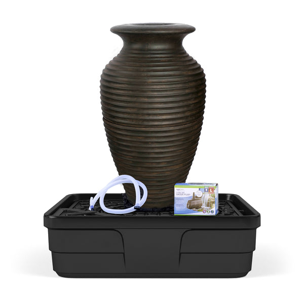 Photo of Aquascape Rippled Urn Landscape Fountain Kit - Medium - Marquis Gardens