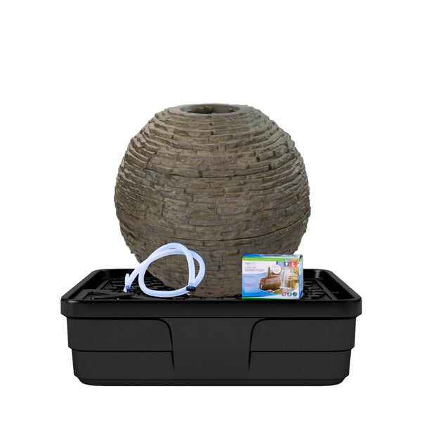 Aquascape Medium Stacked Slate Sphere Fountain Kit