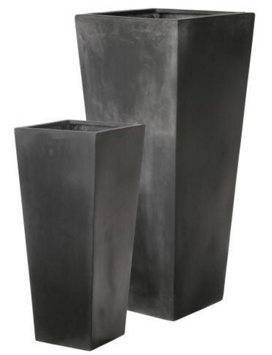 Photo of Fiberstone Square Taper Planters with Shelf  - Marquis Gardens