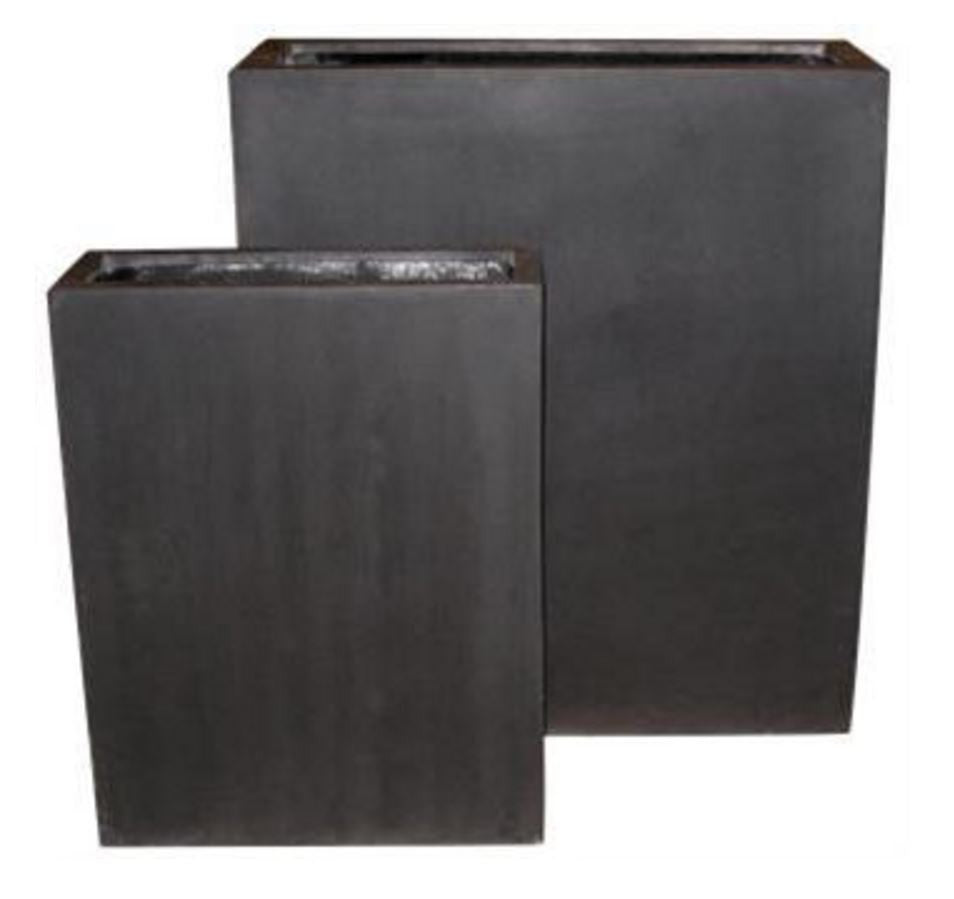Photo of Fiberstone Rectangular Tall Pots with Shelf  - Marquis Gardens