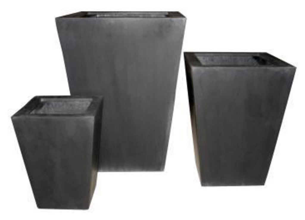 Photo of Fiberstone Square Taper Planters  - Marquis Gardens
