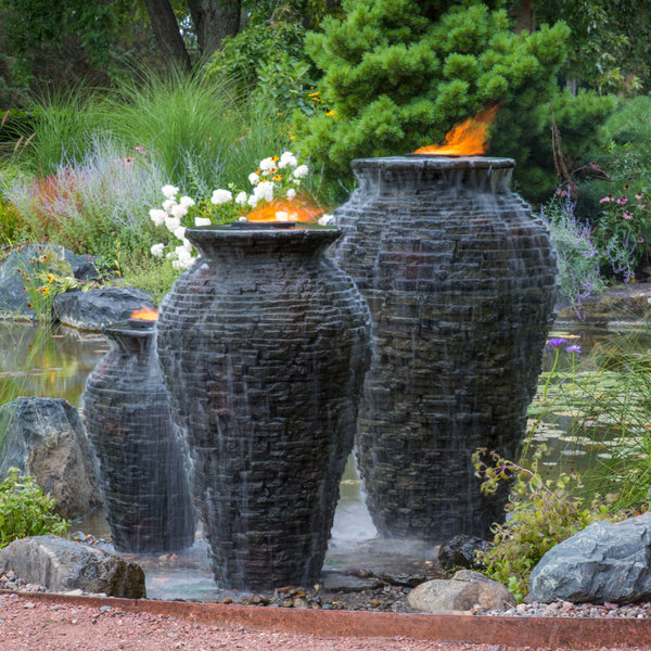 Aquascape Stacked Slate Urns