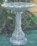 Photo of Birdbath - Lamppost Base - Sunflower Top  - Marquis Gardens