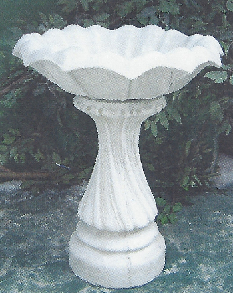 Photo of Birdbath - Large Swirl Base - Tulip Ttop  - Marquis Gardens