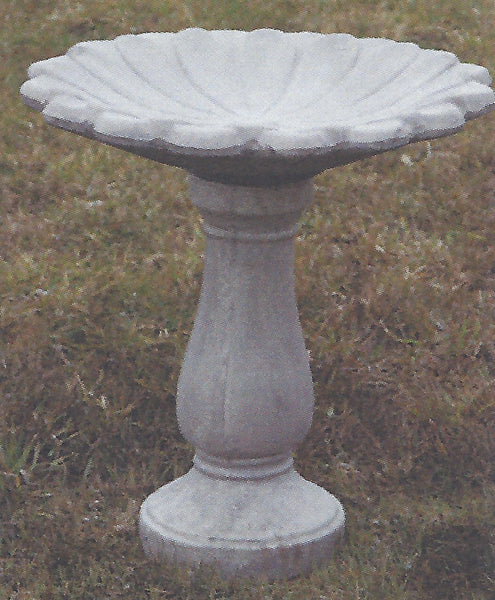 Birdbath - Plain Base - Sunflower Top