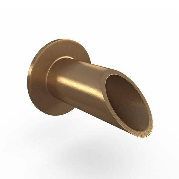 Round Wall Brass Scupper