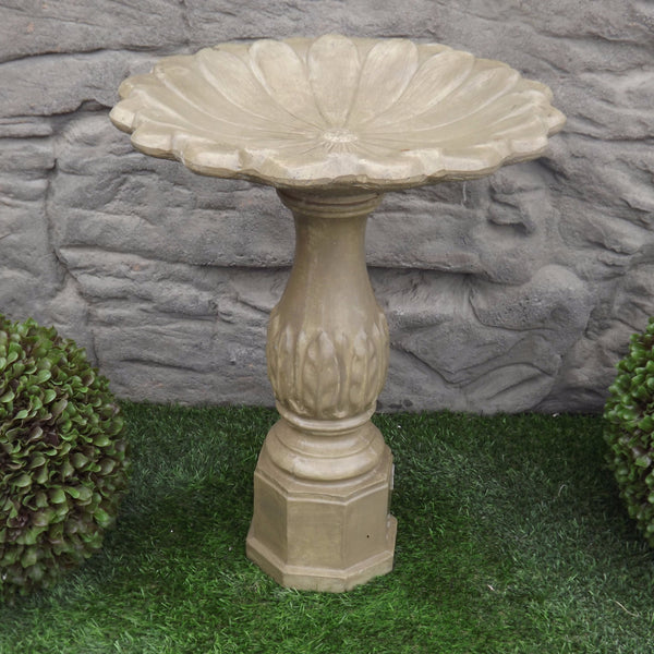Birdbath - Leaf Base - Shallow Tulip Top