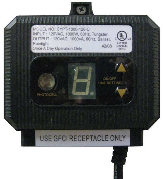 Outdoor timer with photoeye - 1000 watt maximum