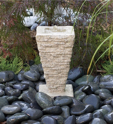 "Photo of Laguna Saqqara Fountain -  (16"" x 8-1/4"") - Marquis Gardens"