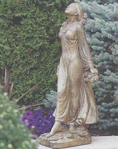 Photo of Lady Statue - Wreath of Roses  - Marquis Gardens