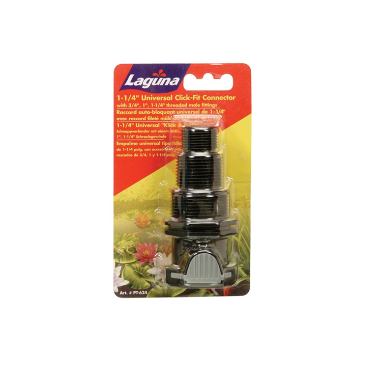 "Photo of Laguna 1-1/4"" Click-Fit - Universal Threaded Male Fitting 3/4"", 1"" and 1-1/4"" - Marquis Gardens"
