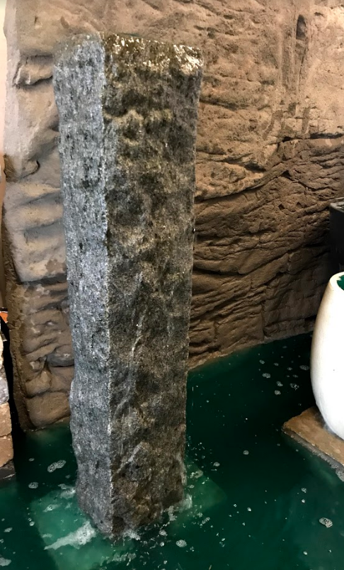 Rockface Grey Granite Water Bollard