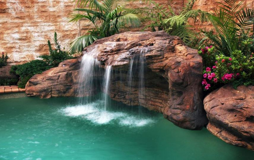 Photo of Tahitian Waterfall - Swimming Pool Waterfall - PCAVE-003 by Universal Rocks  - Marquis Gardens