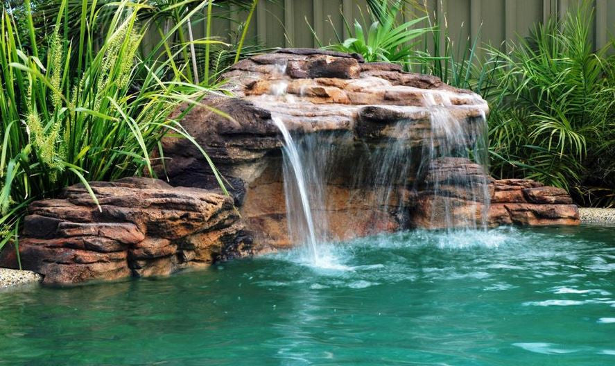Photo of The Maldives - Swimming Pool Waterfall - PCAVE-006 by Universal Rocks  - Marquis Gardens