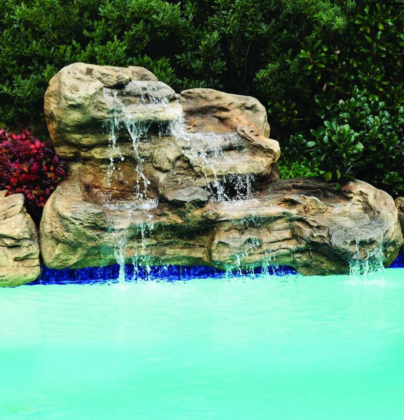 Photo of Serenity Medium - Swimming Pool Waterfall - PLEW-003 MED by Universal Rocks  - Marquis Gardens