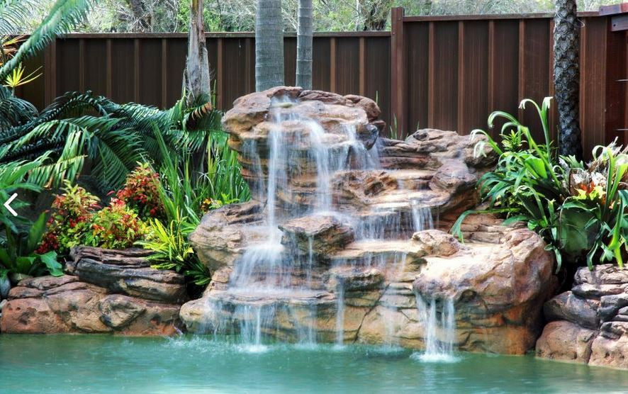 Photo of Serenity - Swimming Pool Waterfall - PLEW-003 by Universal Rocks  - Marquis Gardens