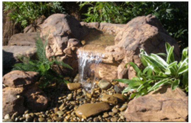 Falling Springs Pebble Pond Falls - PLW-001 - by Universal Rocks