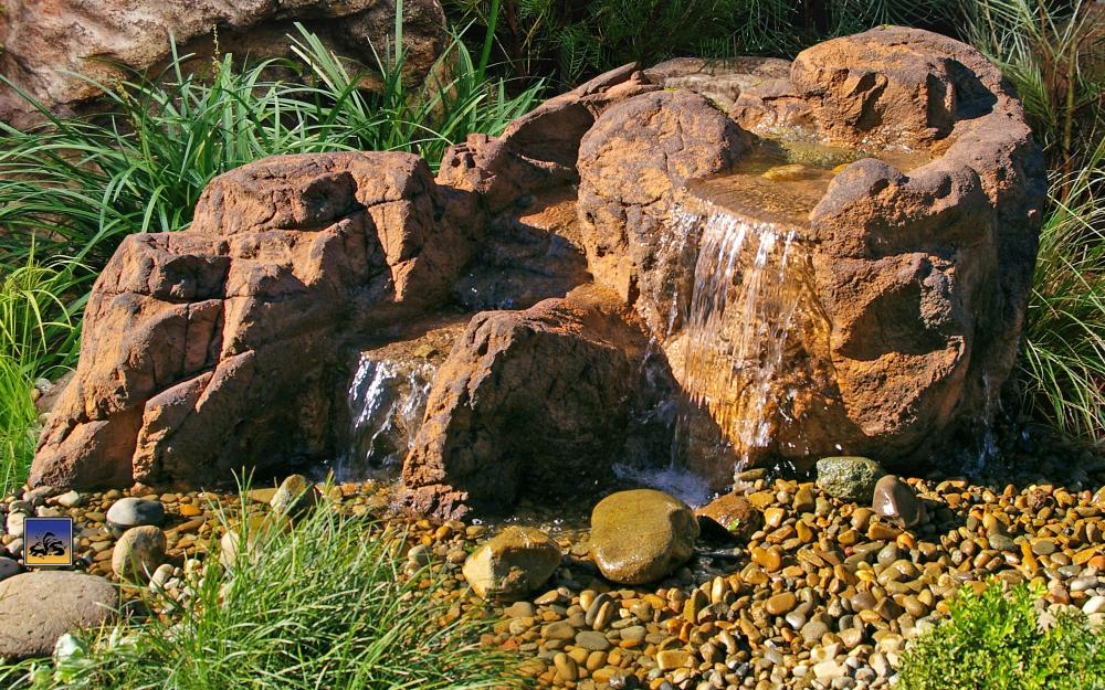 Falling Springs Pebble Pond Falls - PLW-003 - by Universal Rocks