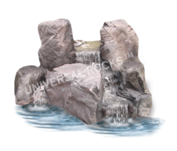 Falling Springs Pebble Pond Falls - PLW-004 - by Universal Rocks