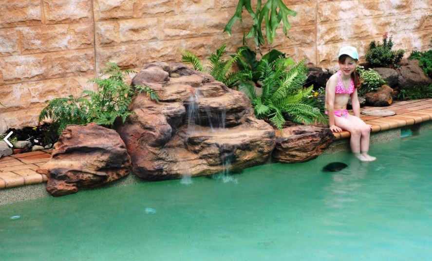 Photo of Tropicana - Swimming Pool Waterfall - PMW-004 by Universal Rocks  - Marquis Gardens