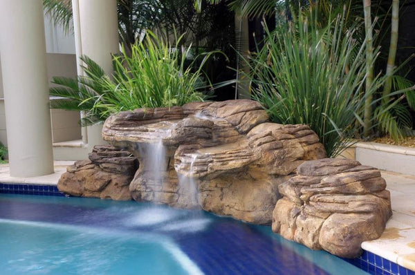 Beachcomber - Swimming Pool Waterfall - PMW-008 by Universal Rocks