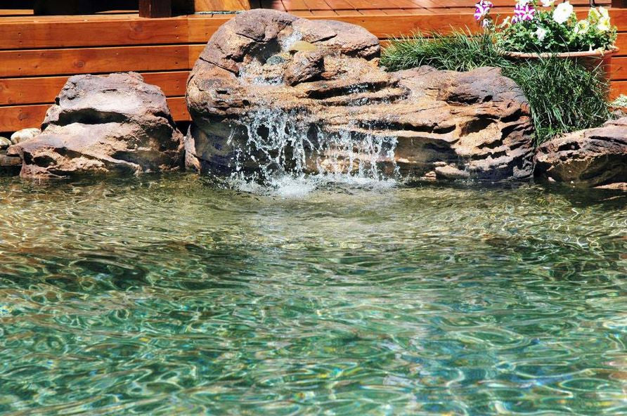 Photo of Somerset - Swimming Pool Waterfall - PMW-009 by Universal Rocks  - Marquis Gardens