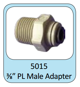 "Photo of ProEco Push Lock Male Adapter 3/8""  - Marquis Gardens"