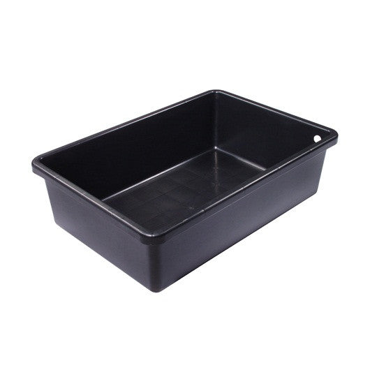 Laguna Rectangular Heavy Duty Black Plastic Basins