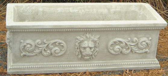 Rectangular Lion Planter