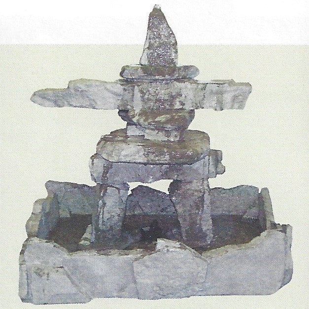 Photo of Stone Inuksuk Fountian  - Marquis Gardens