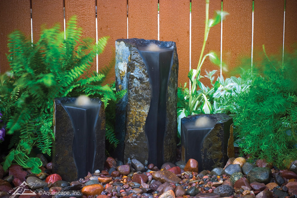 Aquascape Double-Textured Basalt Columns Set of 3