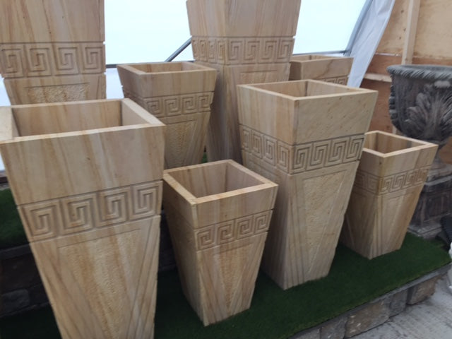 Egyptian Wood Planters